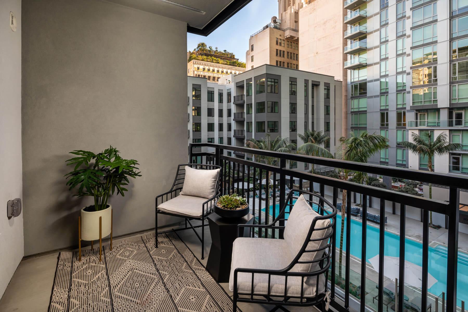 Two Bedroom Residence Balcony
