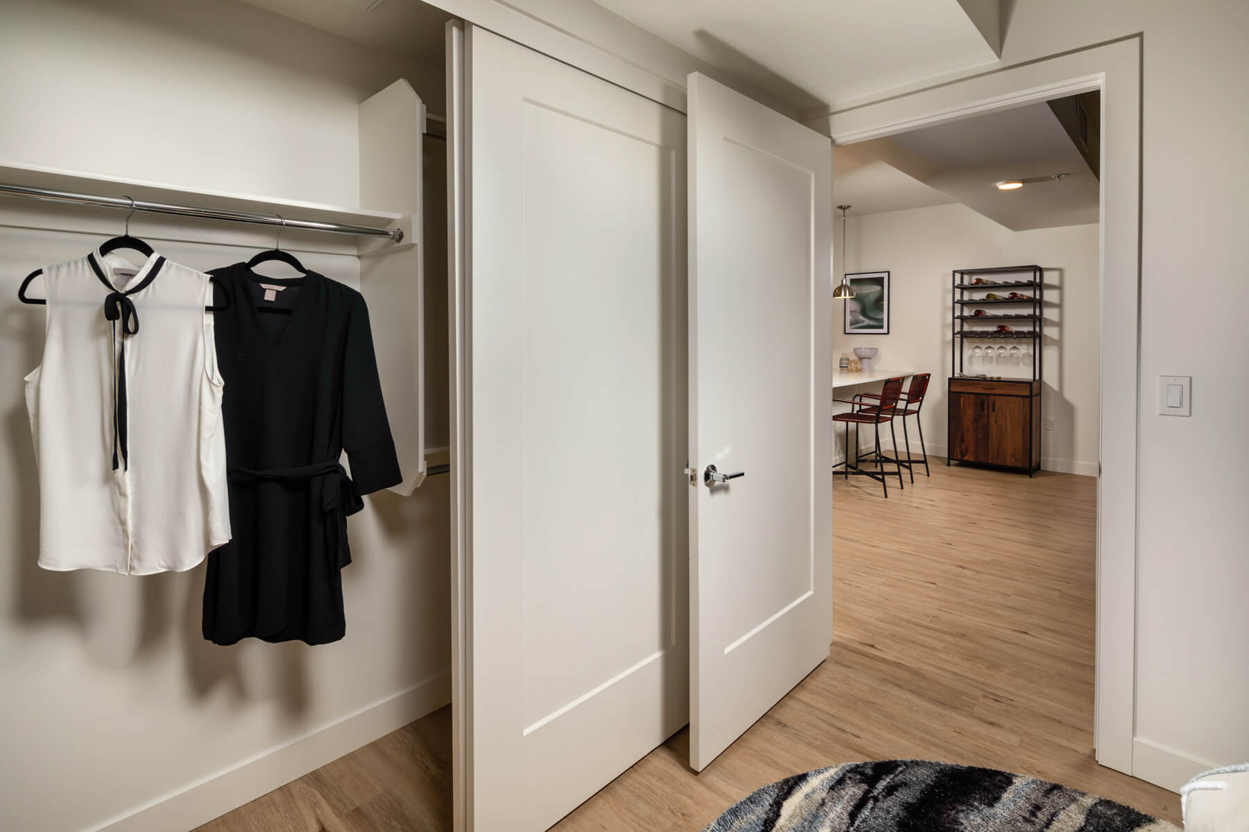 Two Bedroom Residence Guest Bedroom Closet
