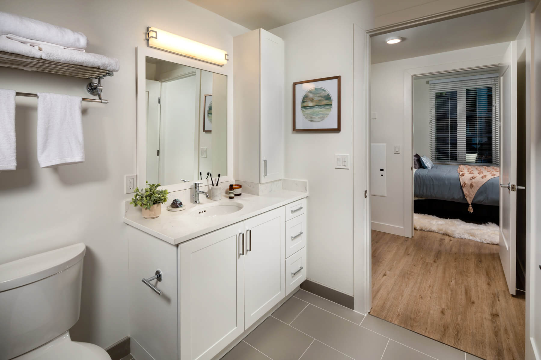 Two Bedroom Residence Master Bathroom To Bedroom