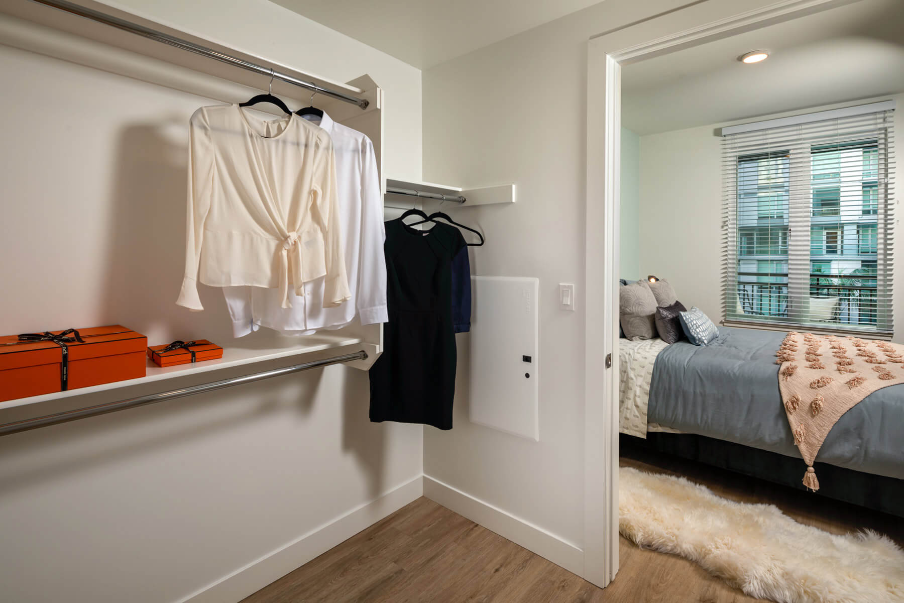 Two Bedroom Residence Master Bedroom Closet